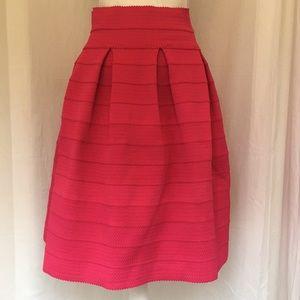New York and Company Pink Elastic Waist Skirt sz M